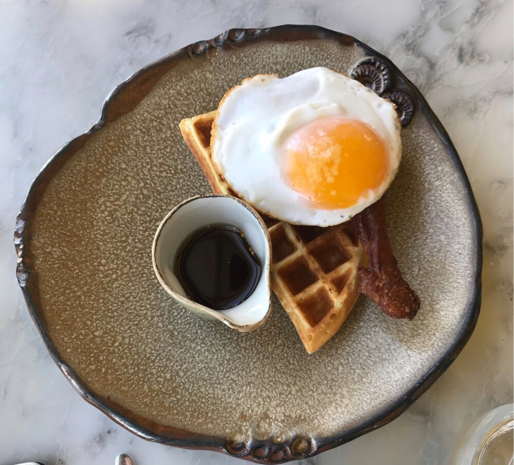 Duck and waffle, the signature dish at this top London restaurant
